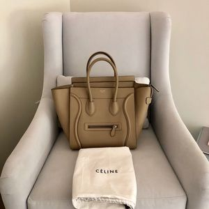 Celine Mini Luggage in Beige